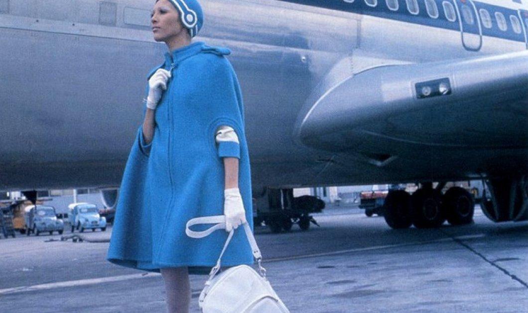 Vintage Pics: Η υπέρκομψη Pierre Cardin στολή αεροσυνοδού που άφησε εποχή στην Ολυμπιακή Αεροπορία (φώτο) - Κυρίως Φωτογραφία - Gallery - Video
