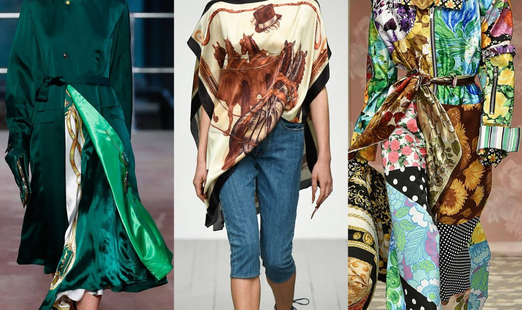 Foulard ή μαντήλι  signé; Η απόλυτη τάση της φετινής μόδας: Αλλιώτικο εμπριμέ που αν προσέξω δεν θα γίνω κιτς (φώτο)  - Κυρίως Φωτογραφία - Gallery - Video