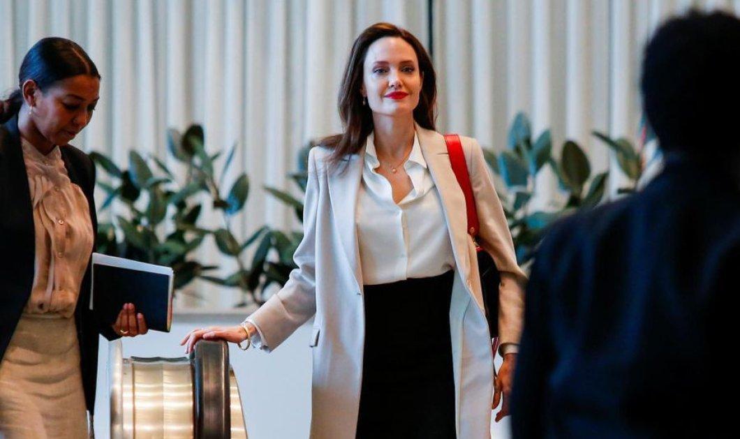 Στον ΟΗΕ η Αντζελίνα Τζολί με αυστηρό & ταυτόχρονα σέξι ντύσιμο - Μήπως προετοιμάζεται για προεδρίνα των ΗΠΑ; (φώτο) - Κυρίως Φωτογραφία - Gallery - Video