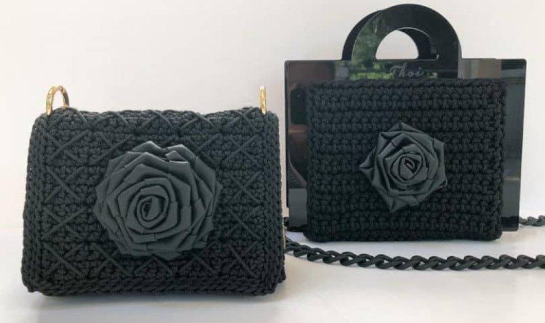 Made in Greece οι Thoi: Χειροποίητες πλεκτές τσάντες με ανατρεπτικό σχεδιασμό & ζωηρά μαύρα χρώματα - Κυρίως Φωτογραφία - Gallery - Video