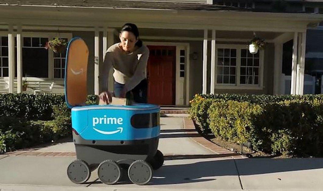 Νέο ρομπότ της Amazon: Θα κάνει delivery τα δέματα στο σπίτι σας - Βίντεο  - Κυρίως Φωτογραφία - Gallery - Video