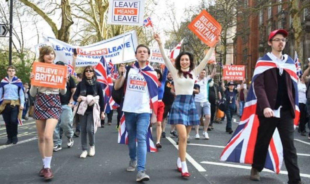 """Λονδίνο: Διαδηλώσεις πάρτι & ...προσευχές μετά την 3η απόρριψη της συμφωνίας - """"Θέλουμε Brexit & το θέλουμε τώρα"""" (φώτο-βίντεο) - Κυρίως Φωτογραφία - Gallery - Video"""