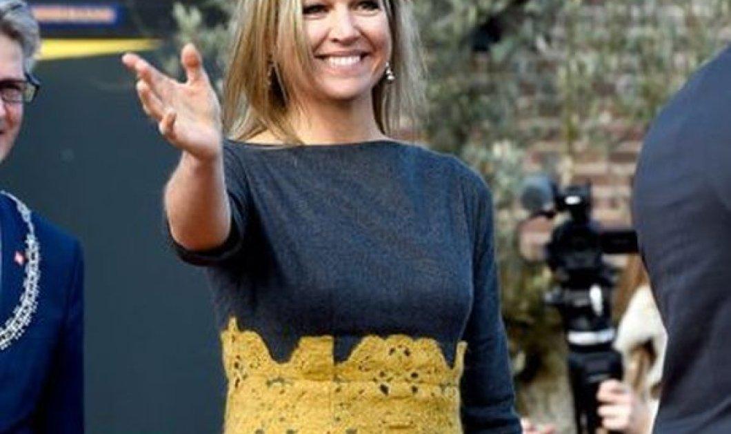 Η βασίλισσα Μαξίμα της Ολλανδίας με το ωραιότερο φουστάνι του φετινού χειμώνα: Γκρι μάλλινο  με μουσταρδί δαντέλα (φωτό) - Κυρίως Φωτογραφία - Gallery - Video