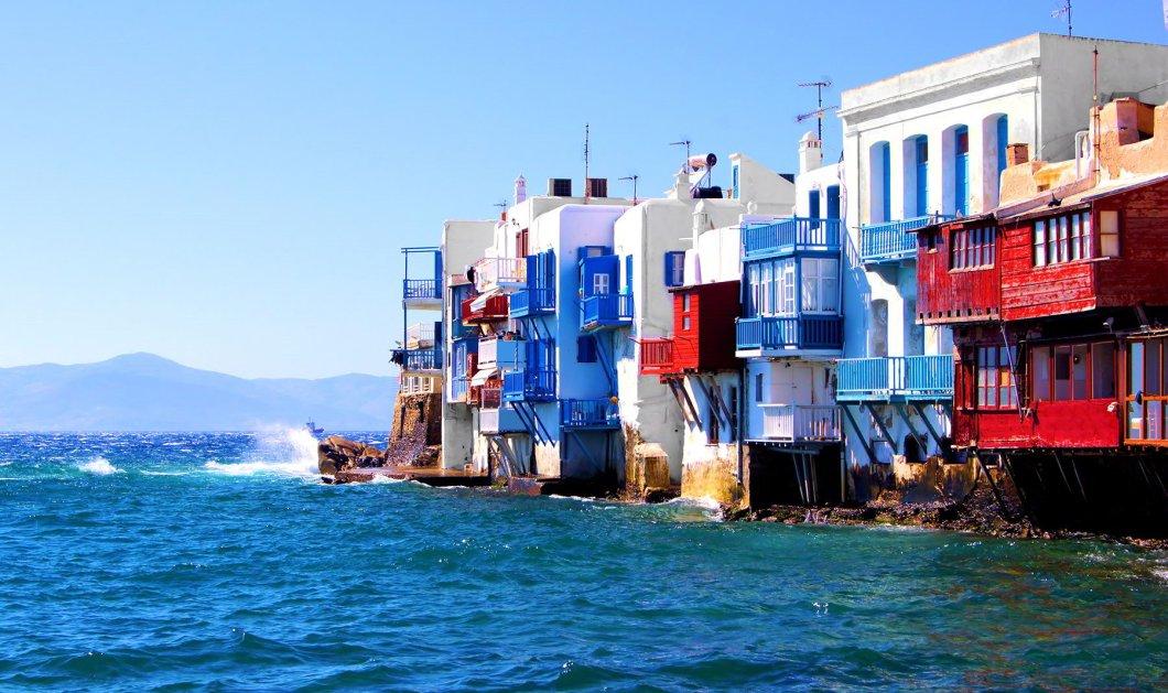 Συγκλονιστικό βίντεο: Όταν τα κύματα καταπίνουν την Μικρή Βενετία στη Μύκονο! - Κυρίως Φωτογραφία - Gallery - Video
