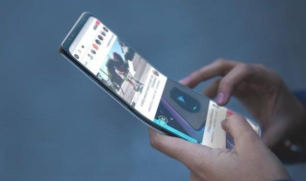 Έρχονται τα αναδιπλούμενα κινητά - Θα τυλίγονται σαν μία κόλλα χαρτί - Κυρίως Φωτογραφία - Gallery - Video