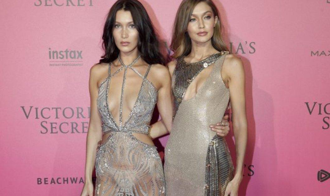 Τι φόρεσαν για το πάρτι της Vogue στο Παρίσι οι αδελφούλες Xαντίντ; Η μια με καλτσάκι ως το γόνατο! (φωτό)  - Κυρίως Φωτογραφία - Gallery - Video