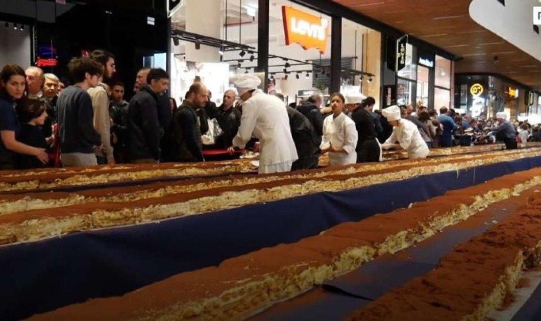 Το μεγαλύτερο Τιραμισού στον κόσμο, με 15.000 κομμάτια – Κέρδισε ρεκόρ Γκίνες στο Μιλάνο - Κυρίως Φωτογραφία - Gallery - Video