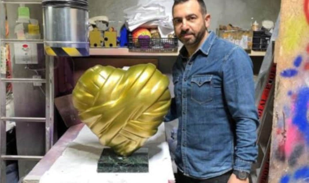 Made in Greece τα περιζήτητα μικρογλυπτά του Στάθη Αλεξόπουλου: Καρδιές, παπάκια, γαλλικά bulldogs & ο Mickey Mouse με χρώμα-φλόγα - Κυρίως Φωτογραφία - Gallery - Video