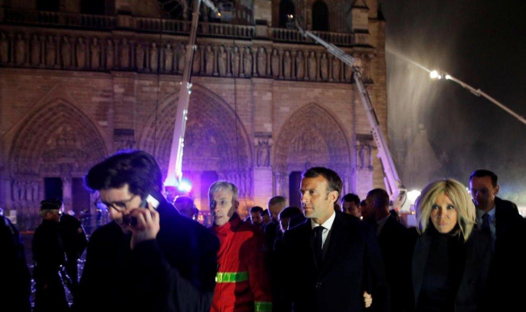 """Μακρόν: """"Θα ξαναχτίσουμε την """"Notre Dame"""" ακόμη πιο όμορφα"""" - Σε 5 χρόνια η αποκατάσταση (βίντεο) - Κυρίως Φωτογραφία - Gallery - Video"""