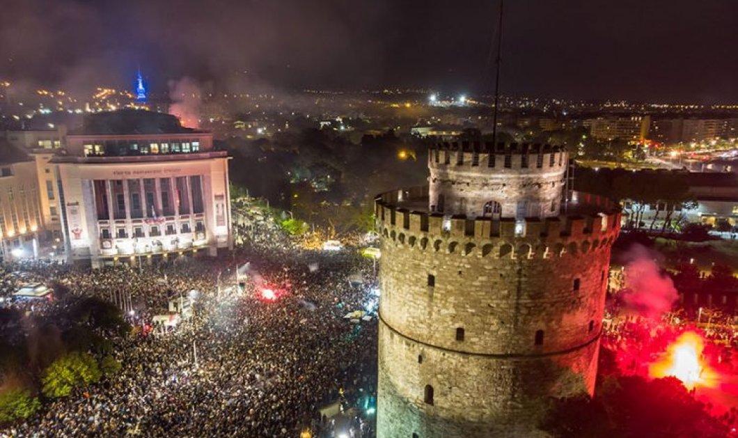Ολονύχτιο πάρτι στη Θεσσαλονίκη για τον ΠΑΟΚ -  Η αποθέωση για το πρωτάθλημα! - Κυρίως Φωτογραφία - Gallery - Video
