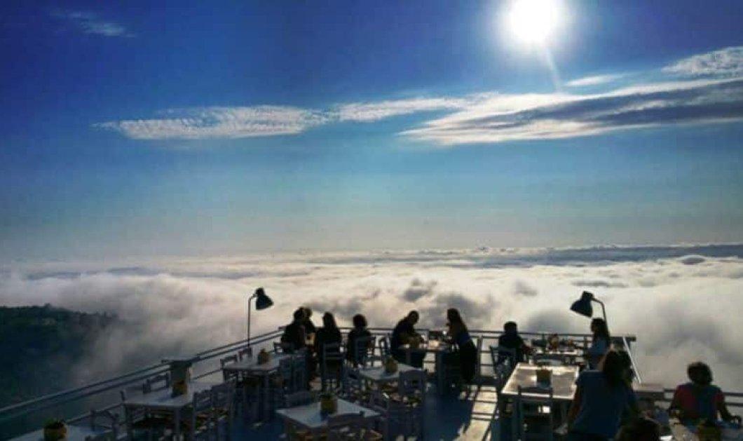 Ράχη: Ασύγκριτη θέα στο μοναδικό εστιατόριο στα ορεινά της Λευκάδας που τρως κυριολεκτικά πάνω από τα σύννεφα! - Κυρίως Φωτογραφία - Gallery - Video