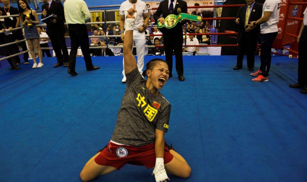 Κινέζα boxer στέφεται βασίλισσα του ρινγκ  - Πήρε το χρυσό στα γενέθλια του γιου της  - Κυρίως Φωτογραφία - Gallery - Video