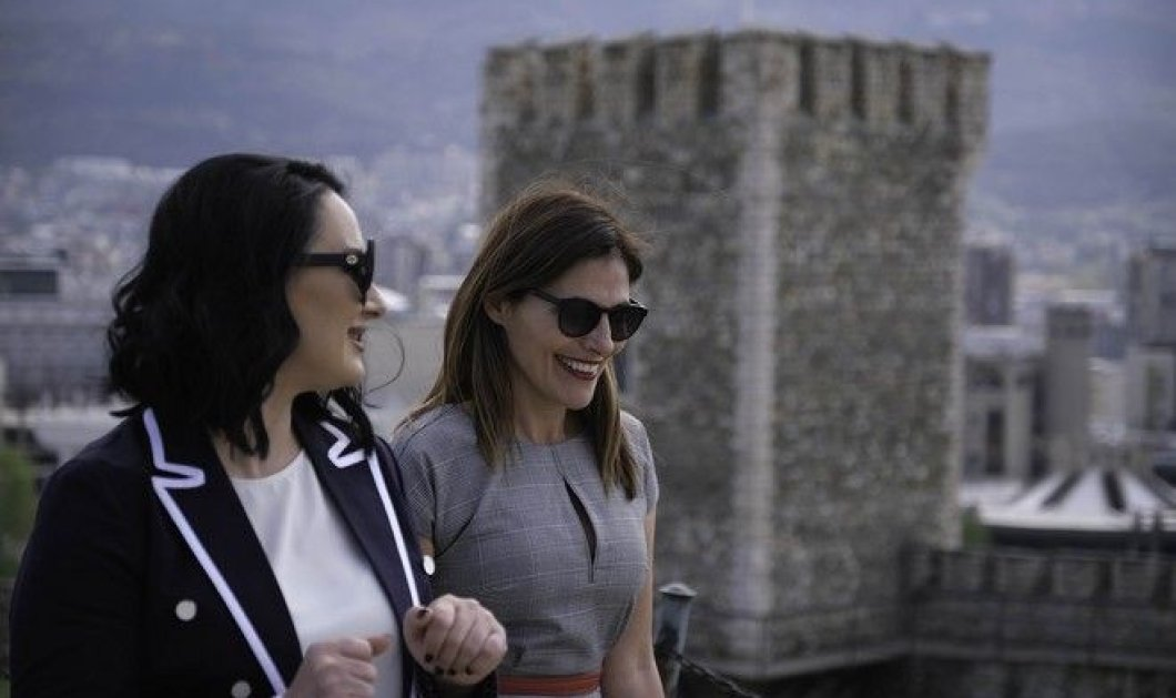 H Συνάντηση Μπέττυς Μπαζιάνα - Ζορίτσα Ζαέβα: Τι φόρεσαν οι Πρώτες κυρίες - Τα δώρα και η ξενάγηση στο κάστρο των Σκοπιών - Κυρίως Φωτογραφία - Gallery - Video