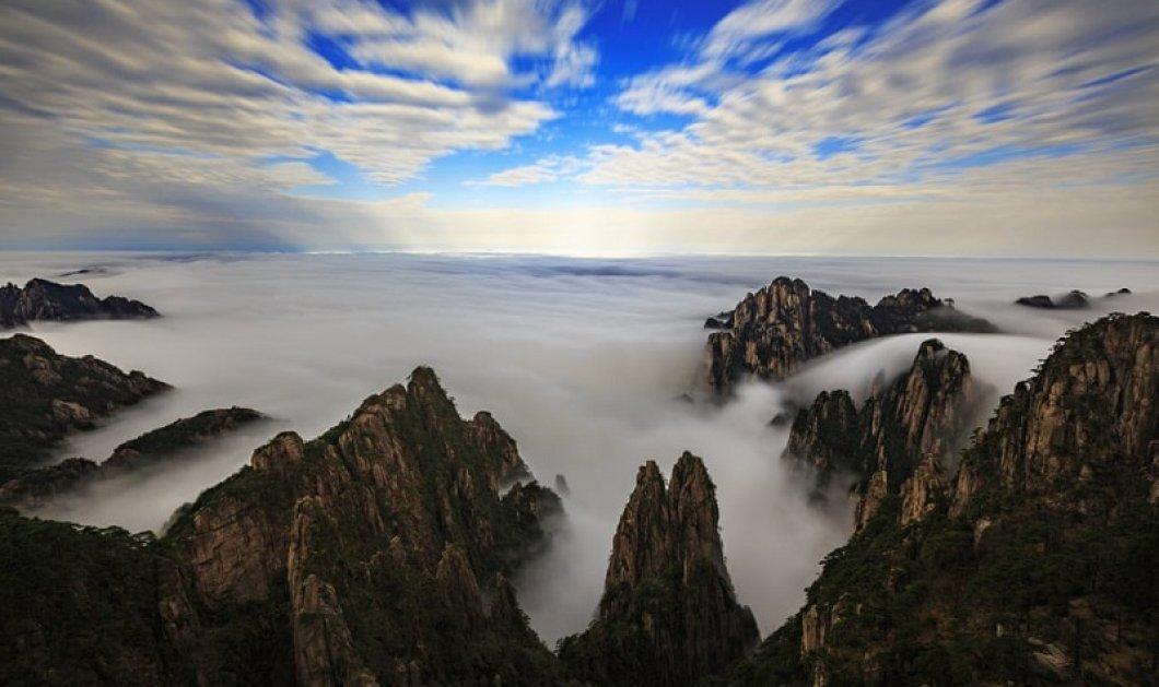 Σκέτη μαγεία: Ένα μαγευτικό τοπίο στην Κίνα μετά από βροχή με τα σύννεφα να κυριαρχούν και να βρίσκονται παντού! (φωτό) - Κυρίως Φωτογραφία - Gallery - Video