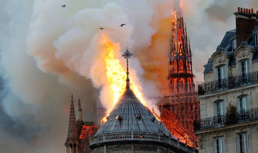 Σοκαριστικές εικόνες & LIVE βίντεο: Καίγεται η Παναγία των Παρισίων - Κατέρρευσε η στέγη - Κυρίως Φωτογραφία - Gallery - Video