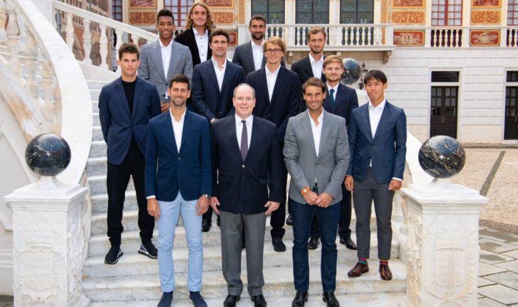 """""""Πρίγκιπας"""" ο Στέφανος μας! Ο Τσιτσιπάς με την crème de la créme του τένις στο Μονακό - Ποζάρουν όλοι δίπλα στον Αλβέρτο (φώτο- βίντεο)  - Κυρίως Φωτογραφία - Gallery - Video"""