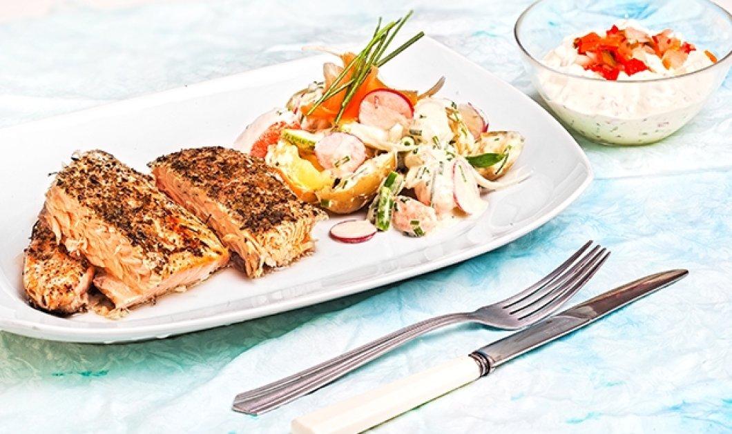 Αργυρώ Μπαρμπαρίγου: Σήμερα τρώμε υγιεινά & νόστιμα! Σολομό ψητό με λαχανικά & σάλτσα ταρτάρ   - Κυρίως Φωτογραφία - Gallery - Video