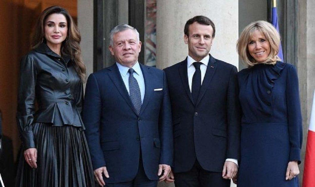 """Όταν η Μπριζίτ Μακρόν συνάντησε τη βασίλισσα Ράνια - Δύο """"ιέρειες"""" του στυλ στο Παρίσι- Ποια είναι η πιο όμορφη; (φώτο) - Κυρίως Φωτογραφία - Gallery - Video"""