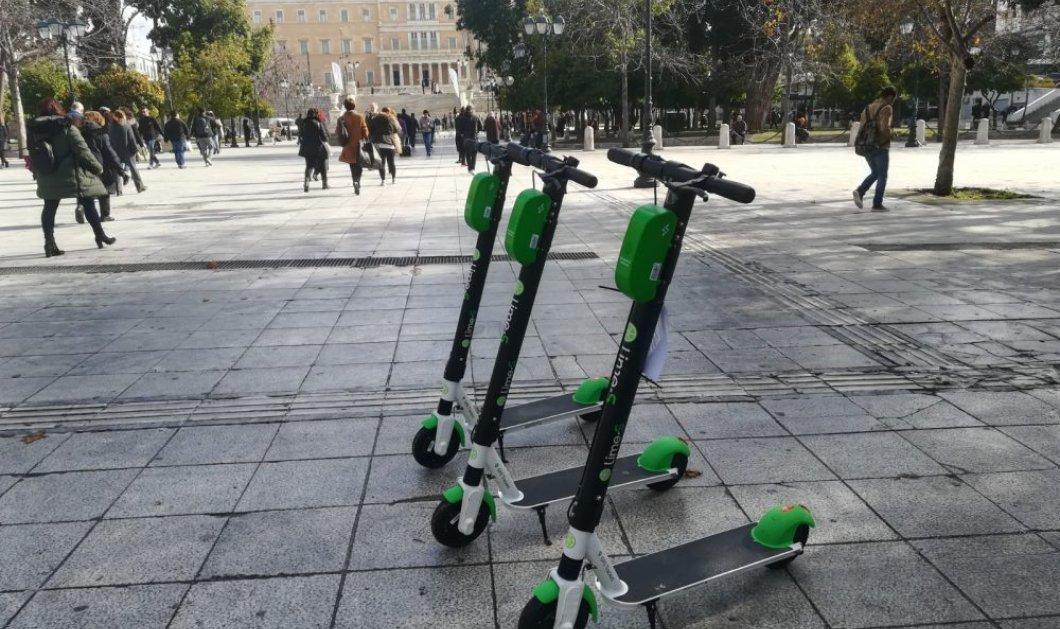 «Πρωτιά» στα πατίνια: Η Αθήνα, η πρώτη πόλη στην οποία μειώνεται η ταχύτητα - Κυρίως Φωτογραφία - Gallery - Video
