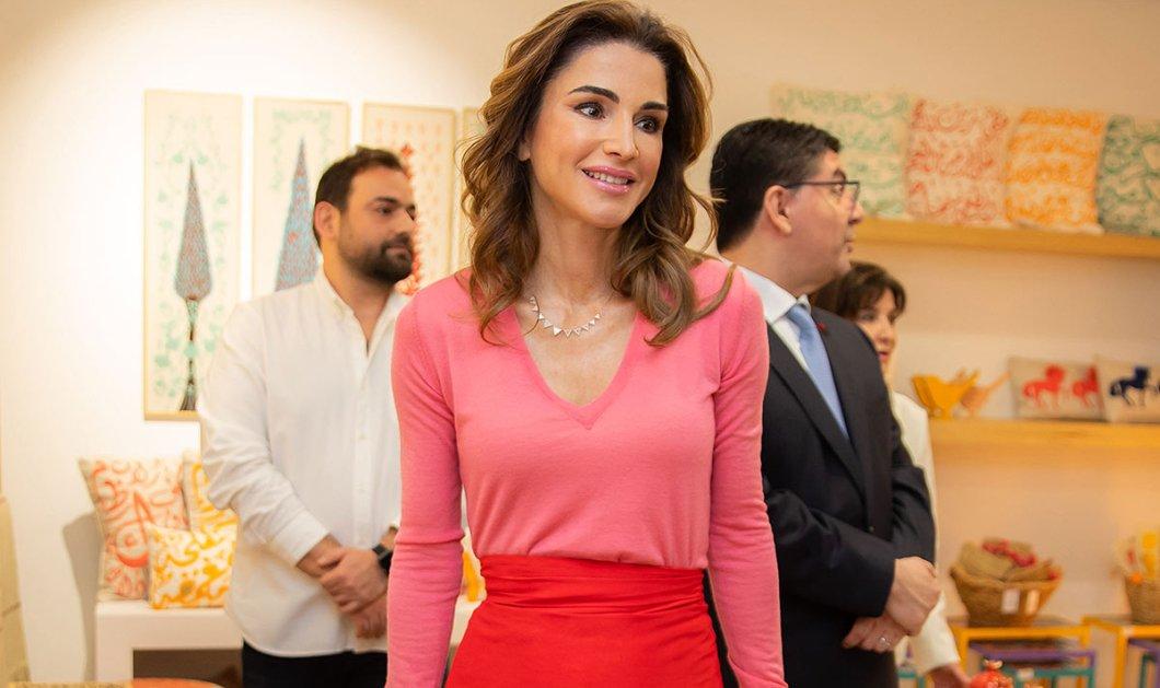Η εντυπωσιακή βασίλισσα Ράνια της Ιορδανίας με κομψό και στιλάτο outfit – Φόρεσε την μεγαλύτερη τάση του καλοκαιριού  - Κυρίως Φωτογραφία - Gallery - Video