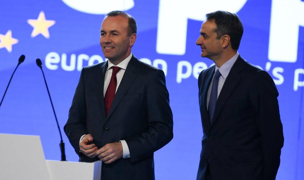 """Κυρ. Μητσοτάκης: Στις ευρωεκλογές η Ελλάδα θα απαντήσει στο λαϊκισμό"""" - Βέμπερ: """"Όταν ξανάρθω θα είσαι πρωθυπουργός"""" (φώτο-βίντεο) - Κυρίως Φωτογραφία - Gallery - Video"""