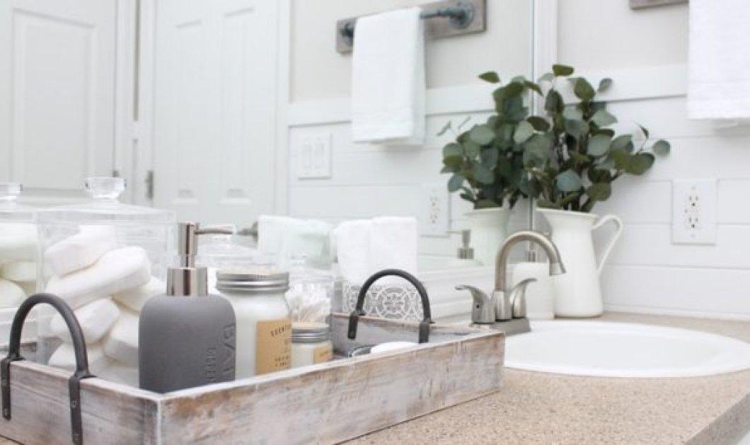 Σπύρος Σούλης: 7 τρόποι για να οργανώσετε ένα μπάνιο χωρίς ντουλάπια και συρτάρια - Κυρίως Φωτογραφία - Gallery - Video