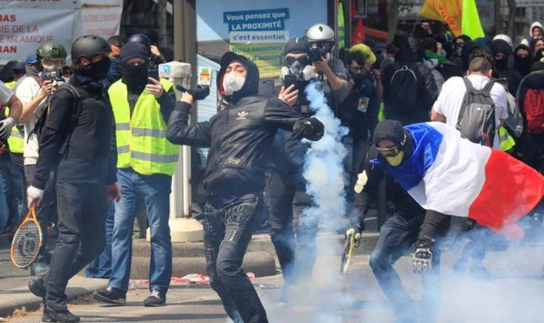 Παρίσι: Εργατική Πρωτομαγιά με δακρυγόνα, συλλήψεις & συμπλοκές (φώτο-βίντεο) - Κυρίως Φωτογραφία - Gallery - Video
