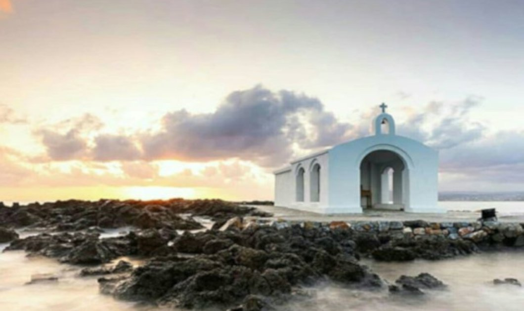 Γεωργιούπολη: Υπέροχη φωτογραφική λήψη στην καταπληκτική αμμουδερή παραλία των Χανίων - Κυρίως Φωτογραφία - Gallery - Video