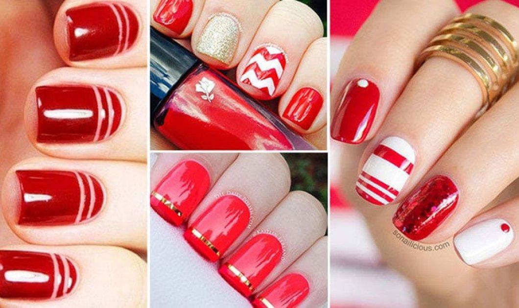 75 υπέροχες προτάσεις για τα πιο εντυπωσιακά κόκκινα νύχια - Κυρίως Φωτογραφία - Gallery - Video