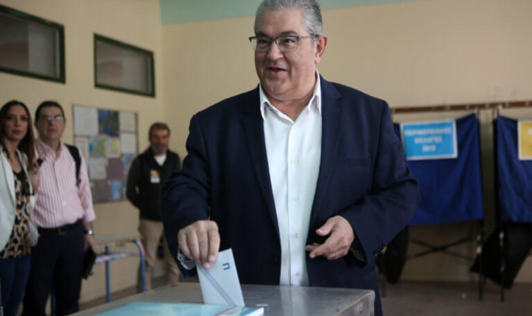 Εκλογές 2019: Αισιοδοξία στο ΚΚΕ για το τελικό αποτέλεσμα - Η δήλωση του Δ. Κουτσούμπα μετά την ψήφο  - Κυρίως Φωτογραφία - Gallery - Video
