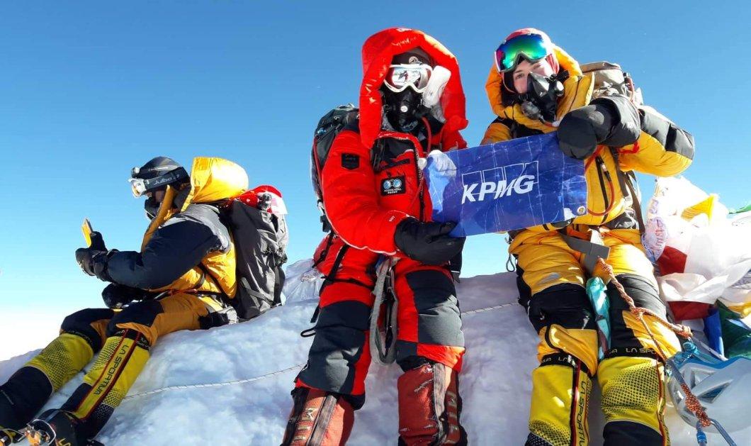 Χριστίνα Φλαμπούρη - Βανέσσα Αρχοντίδου: Οι πρώτες Ελληνίδες που ανέβηκαν στην ψηλότερη κορφή του κόσμου με την υποστήριξη της KPMG (φώτο) - Κυρίως Φωτογραφία - Gallery - Video