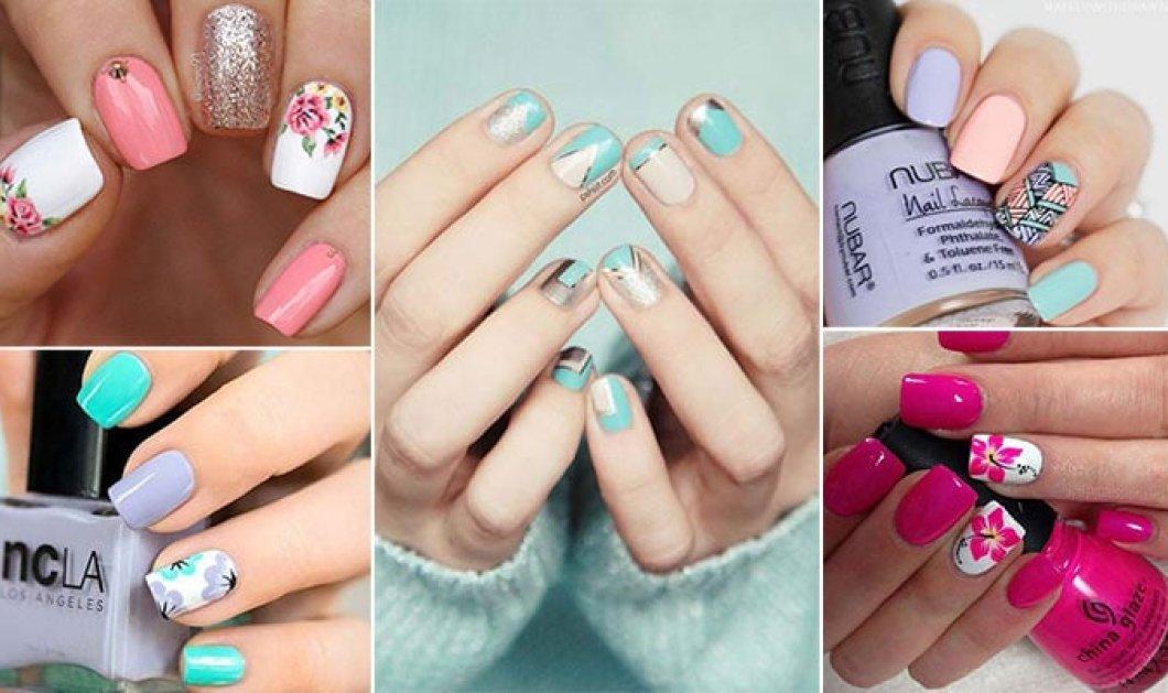 50 εντυπωσιακά χρώματα & σχέδια στα νύχια τον Μάϊο: Φλοράλ, ροζ, λεβάντας, νέο - french - Κυρίως Φωτογραφία - Gallery - Video