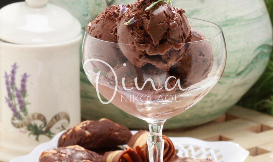 H συνταγή της ημέρας από την εκπληκτική Ντίνα Νικολάου: Απίστευτο σορμπέ σοκολάτας - Κυρίως Φωτογραφία - Gallery - Video