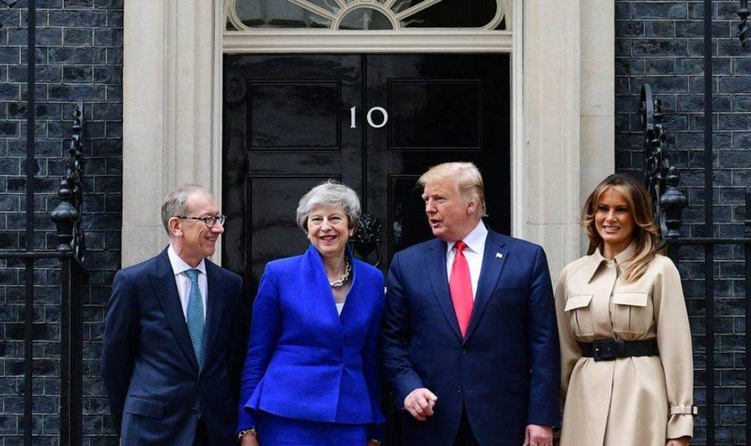 """Συνάντηση Τραμπ- Μέι: Brexit, εμπόριο, διαδηλώσεις στο επίκεντρο - Το """"φλερτ"""" με τους διαδόχους της Βρετανίδας πρωθυπουργού (φώτο -βίντεο)  - Κυρίως Φωτογραφία - Gallery - Video"""