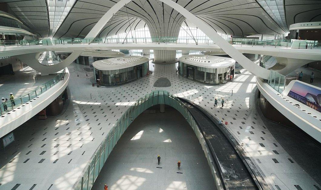 """Πεκίνο: Έτοιμο το μεγαλύτερο & πιο εντυπωσιακό αεροδρόμιο στον κόσμο - Δείτε συγκλονιστικές εικόνες & βίντεο από το """"θαύμα αρχιτεκτονικής""""  - Κυρίως Φωτογραφία - Gallery - Video"""
