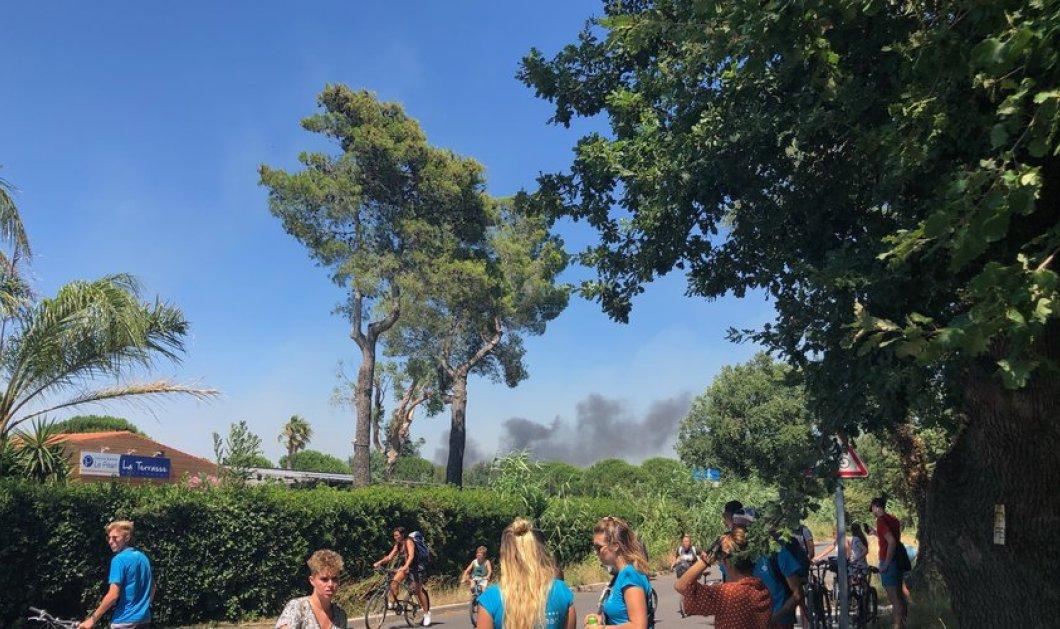 Γαλλία: Εκτεταμένες πυρκαγιές στην  Αρζέλ σιρ Μερ - Απομακρύνθηκαν 2500 κατασκηνωτές (φώτο-βίντεο) - Κυρίως Φωτογραφία - Gallery - Video