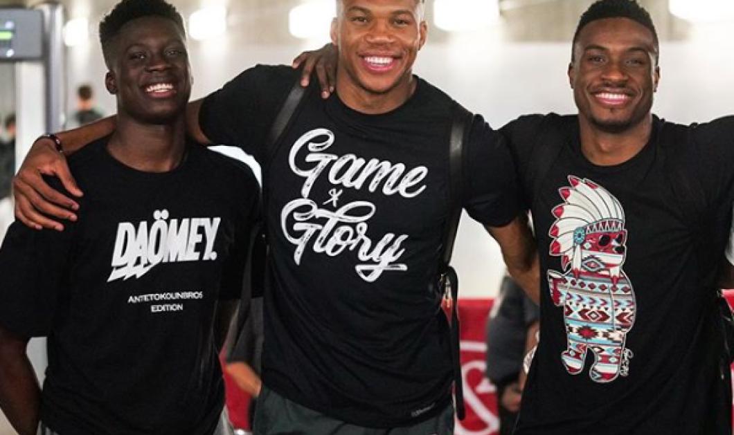 Εθνική Ελλάδας μπάσκετ με 3 αδέρφια Αντετοκούνμπο: Γιάννης, Θανάσης & Κώστας  - Κυρίως Φωτογραφία - Gallery - Video