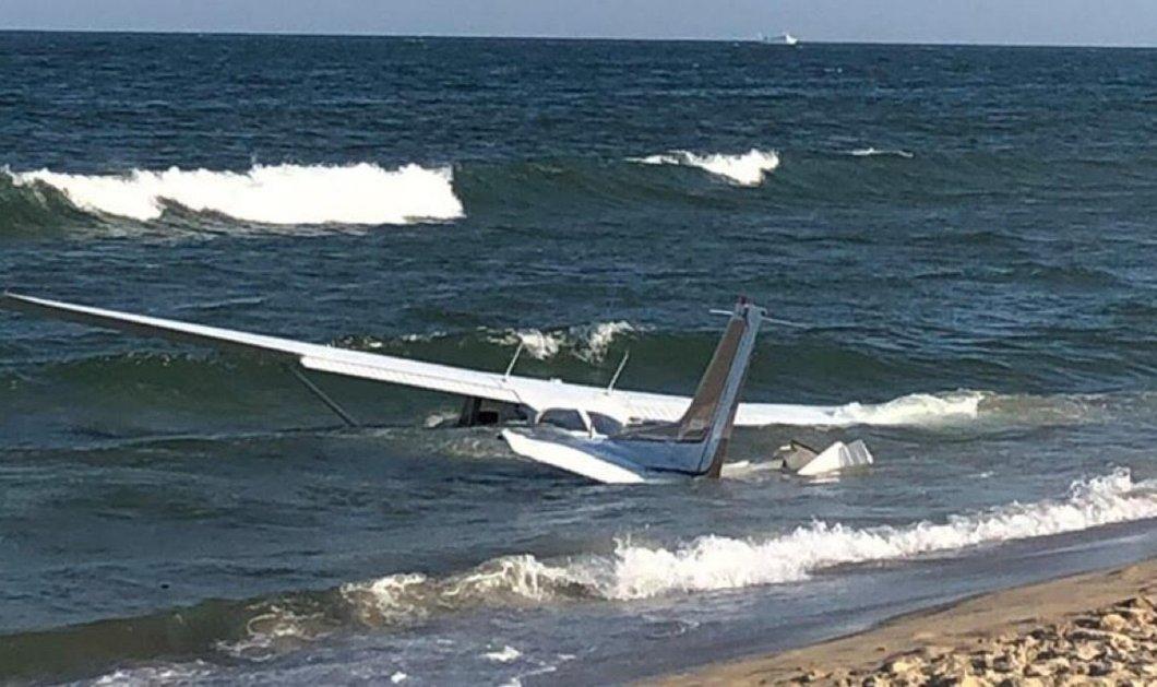 Πιλότος προσγείωσε αεροσκάφος στη θάλασσα του Μέριλαντ, λόγω μηχανικής βλάβης – Η αντίδραση των λουόμενων (φωτό & βίντεο) - Κυρίως Φωτογραφία - Gallery - Video