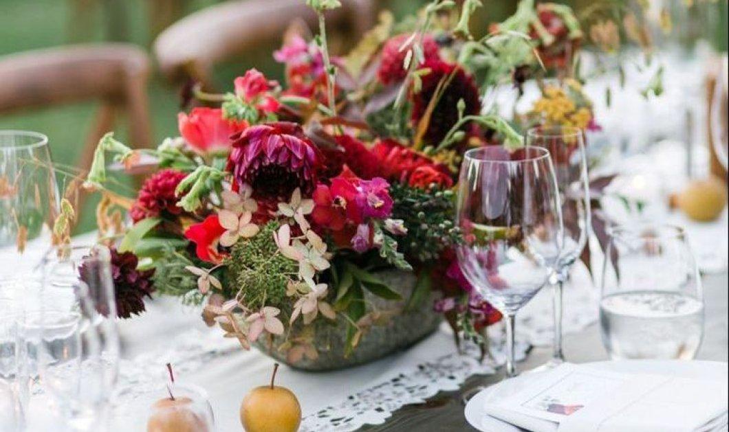 """Γάμος το φθινόπωρο; Δείτε 11 εκθαμβωτικούς συνδυασμούς για το """"Art de la table"""" στο πιο glamorous  τραπέζι του γάμου (φώτο) - Κυρίως Φωτογραφία - Gallery - Video"""