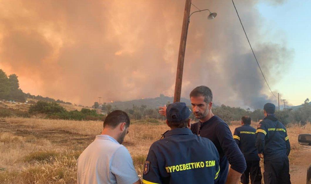 Μπακογιάννης για τη φωτιά στην Εύβοια: Δεν απειλείται κατοικημένη περιοχή - Καλύτερη η εικόνα σήμερα  - Κυρίως Φωτογραφία - Gallery - Video