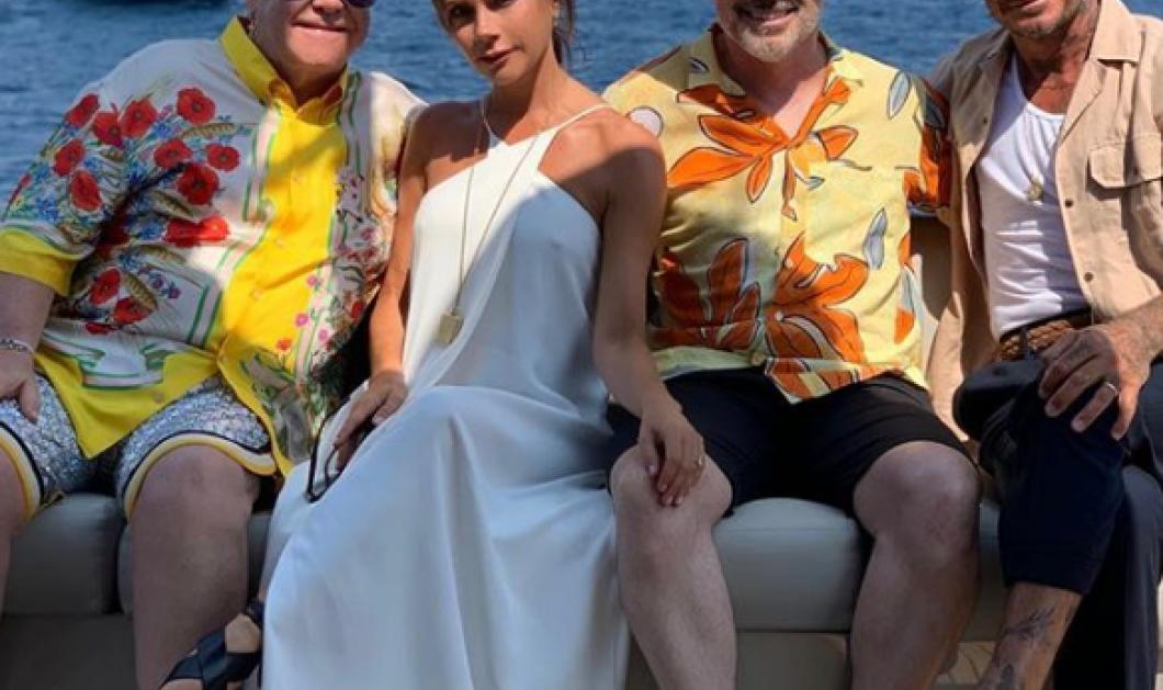 To ζεύγος Μπέκαμ κάνει διακοπές στο σκάφος του ζεύγους Έλτον Τζον - Για πρώτη φορά η Βικτώρια αφήνεται και χοροπηδάει - Κυρίως Φωτογραφία - Gallery - Video