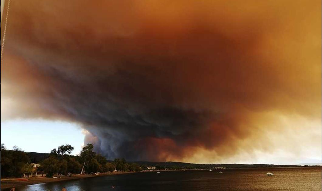 Όλες οι εξελίξεις από την πυρκαγιά στην Εύβοια - Εκκενώθηκαν τρία χωριά - Ο Μητσοτάκης επέστρεψε άρον- άρον στην Αθήνα (φώτο-βίντεο) - Κυρίως Φωτογραφία - Gallery - Video