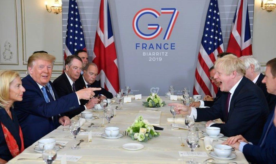 G7: O Tραμπ στον Τζόνσον: Μόλις βγείτε από την ΕΕ , θα υπογράψουμε μια μεγάλη εμπορική συμφωνία  - Θα τρίβουν οι Ευρωπαίοι τα μάτια τους (φωτό)  - Κυρίως Φωτογραφία - Gallery - Video