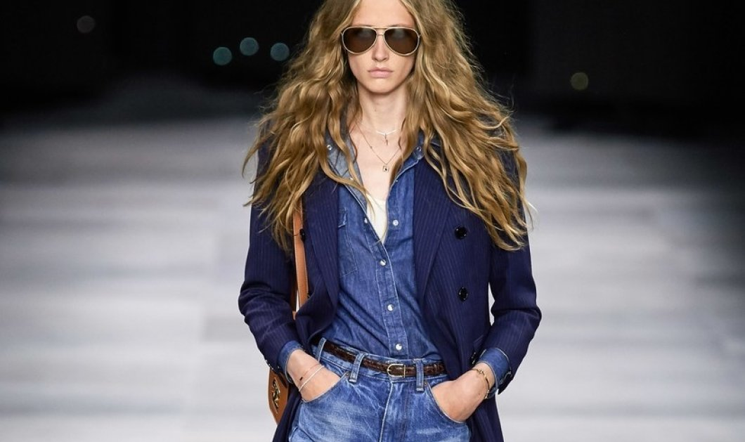 H επίδειξη μόδας της Celine, στο Παρίσι απέδειξε ότι οι Γάλλοι σε ντύνουν σικ ακόμα και με τζιν (φώτο) - Κυρίως Φωτογραφία - Gallery - Video