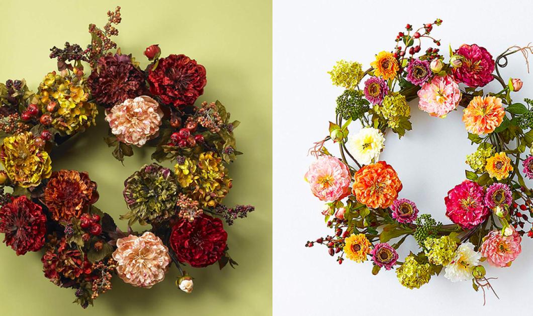 25 στεφάνια που θα φτιάξετε εύκολα μόνες σας για να υποδεχθείτε το φθινόπωρο στην εξώπορτα του σπιτιού σας (φώτο) - Κυρίως Φωτογραφία - Gallery - Video