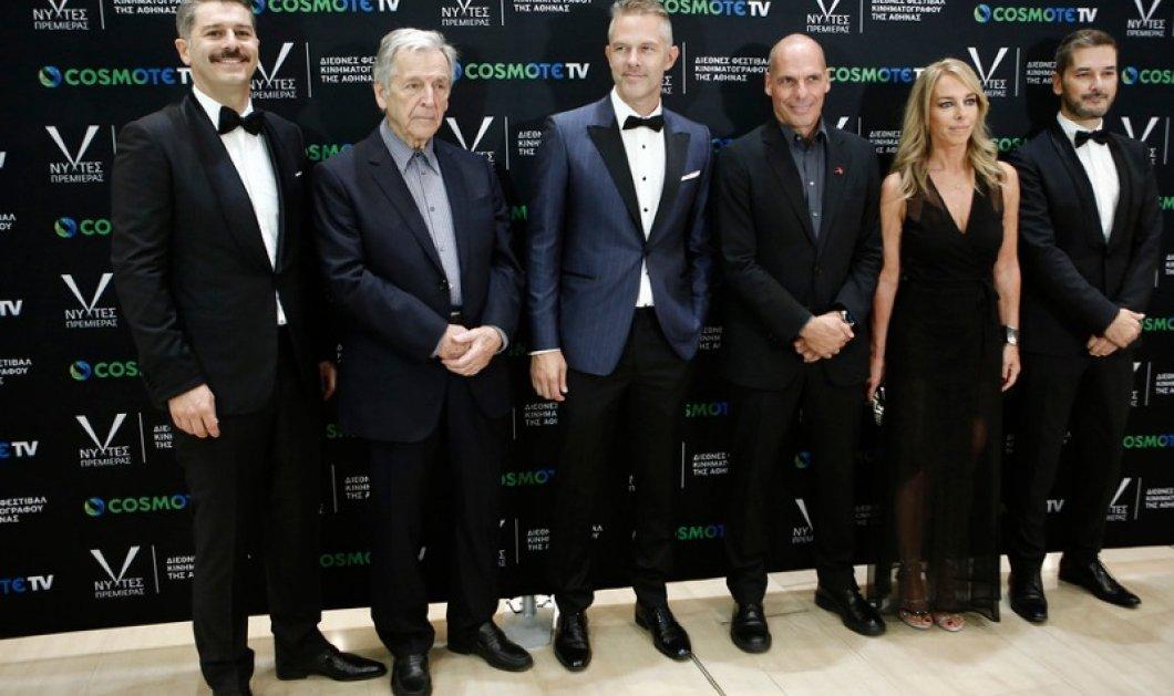 """Η λαμπερή πρεμιέρα της ταινίας """"Ενήλικοι στο δωμάτιο"""" με """"πρωταγωνιστή"""" τον Γιάνη Βαρουφάκη -Το μίνι black dress της Δανάης (φώτο) - Κυρίως Φωτογραφία - Gallery - Video"""