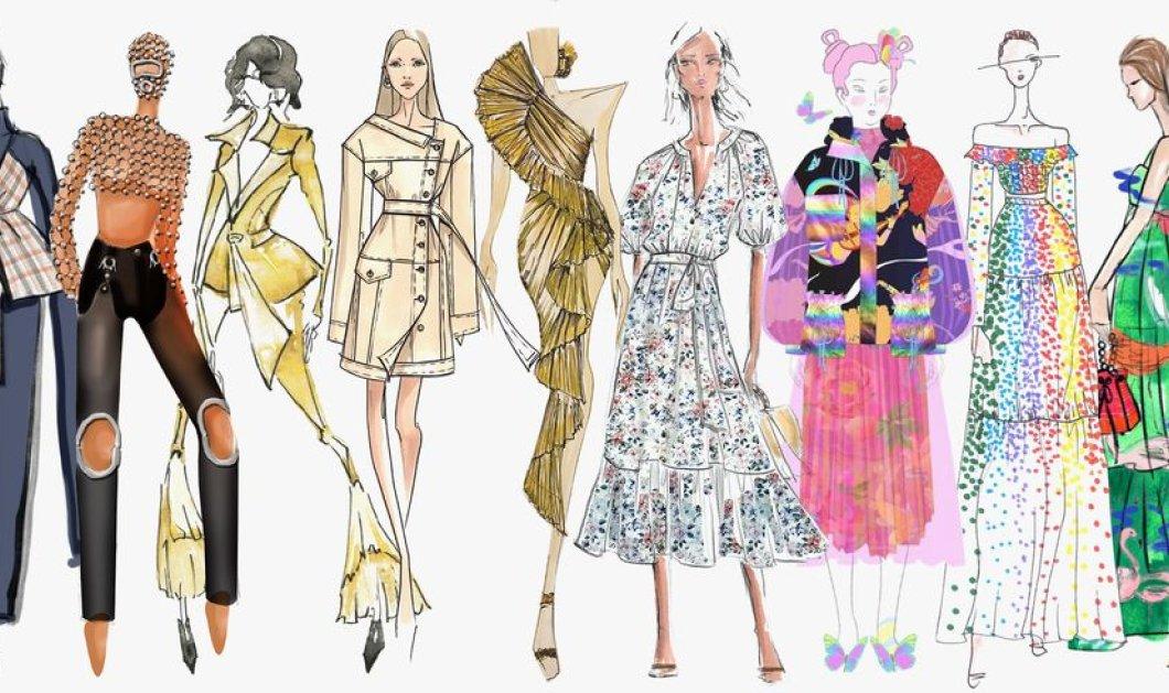 Σπάνιο ντοκουμέντο μόδας: 47 σκίτσα των διασημότερων σχεδιαστών - Εβδομάδα μόδας Νέα Υόρκη (φώτο) - Κυρίως Φωτογραφία - Gallery - Video