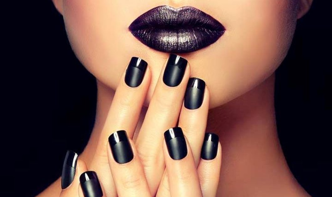 55 μαύρα νύχια με εκπληκτικά σχέδια που θα λατρέψετε αυτό το φθινόπωρο!  - Κυρίως Φωτογραφία - Gallery - Video