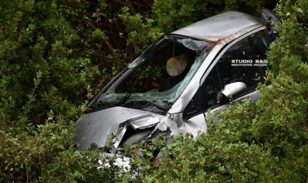 ΙΧ έπεσε σε γκρεμό στο Ναύπλιο: Nεκρός ανασύρθηκε ο οδηγός -  Σκληρές εικόνες από το τροχαίο  - Κυρίως Φωτογραφία - Gallery - Video