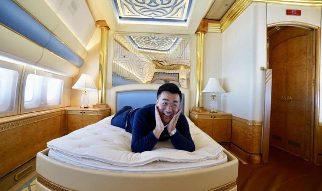 Νεαρός blogger ταξίδεψε μόνος του, σε ένα ιπτάμενο παλάτι κόστους 154 εκατ. λιρών, χρυσά δωμάτια & μαρμάρινα μπάνια (φωτό & βίντεο) - Κυρίως Φωτογραφία - Gallery - Video
